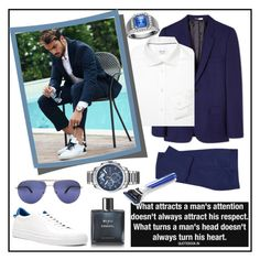 """""""MEN'S STYLE #2"""" by kskafida ❤ liked on Polyvore featuring Givenchy, PS Paul Smith, ETON, Tom Ford, Tommy Hilfiger, Chanel, The Art of Shaving, men's fashion and menswear"""