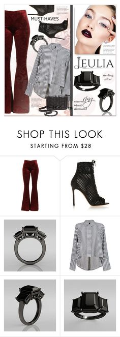 """""""JEULIA"""" by j-sharon ❤ liked on Polyvore featuring Gianvito Rossi, Rebecca Minkoff, women's clothing, women, female, woman, misses, juniors, jawerly and jeulia"""
