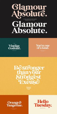 Glamour Absolute Vintage Font by Nicky Laatz - Vintage typography and font for designers, creative retro vintage type. Vintage typography and font - Café Design, Cover Design, Icon Design, Design Room, Flat Design, Logo Design, Brand Design, Brochure Design, Vintage Typography