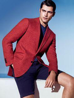 Sara 2015 | Men's Fashion | Menswear | Men's Outfit for Spring/Summer | Red Jacket/Blazer | Smart Casual | Moda Masculina para Primavera/Verano | Shop at designerclothingfans.com