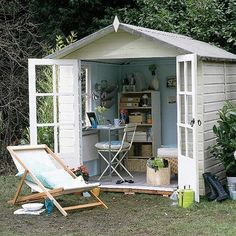 She Shed. Shed quarters. Reading Shed. Craft Shed. Outdoor Office, Backyard Office, Backyard Studio, Backyard Retreat, Garden Office, Garden Studio, Modern Backyard, Backyard Cottage, Cozy Backyard