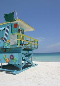 Lifeguard Hut on South Beach (Miami beach, Florida)