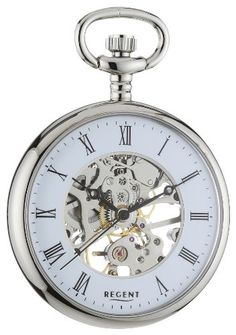 Regent Mechanical Pocket Watch Chromed 11240003 $91.31 (save $195.69)