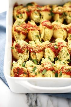 Cauliflower Ricotta Stuffed Shells from Nom Yourself: Simple Vegan Cooking