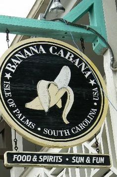 Banana Cabana - Isle of Palms SC - sounds stupid - most amazing chicken tenders (with ranch) and the fries.LOVE the fries! Of course it all goes well with the music and ocean breeze. Can't miss pub food big portions great prices. Isle Of Palms South Carolina, Charleston South Carolina, Charleston Sc, Carolina Beach, Isle Of Palms Restaurants, Charleston Beaches, Sullivans Island, Folly Beach, Southern Charm