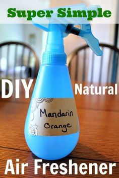 How to make your own natural chemical-free air freshener for pennies a bottles and in just a few quick steps! Excited to use my Young Living essential oils to make my own air freshener! Homemade Cleaning Products, Cleaning Recipes, Natural Cleaning Products, Cleaning Hacks, Cleaning Supplies, Household Products, Household Tips, Cleaners Homemade, Diy Cleaners