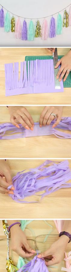 Tassel Garland | DIY Easter Decor Ideas for the Home | DIY Spring Decorations for the Home