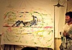 3日の話。代田橋CHUBBYにて、近藤康平さん個展&渡辺シュンスケさんライブ開催☆今回は近藤さん作の物語をご自身が朗読。シュンスケさんがお話に音を添える。これがとても素敵でCD付の絵本?物語が欲しくなってしまった。近藤さんの絵の中では、いつも音が鳴ってるみたい♪