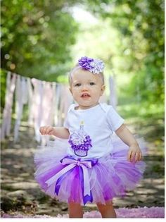 A personal favorite from my Etsy shop https://www.etsy.com/listing/180993929/baby-girl-1st-birthady-tutu-cupcake