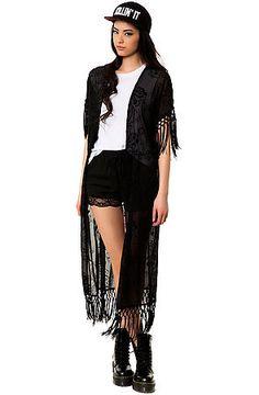 *MKL Collective Kimono The Belle in Black - Karmaloop.com