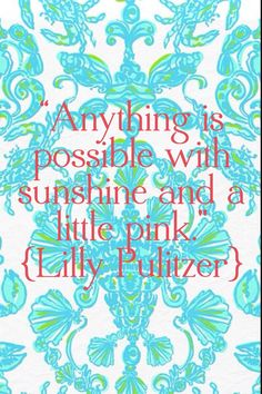 Lilly Pulitzer ....actually, today I think is fucking bullshit....  But I'm pinning it for later, when this storm has past and I can enjoy it.