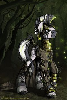 Trees, Gears and Fireflies by NastyLady.deviantart.com on @deviantART