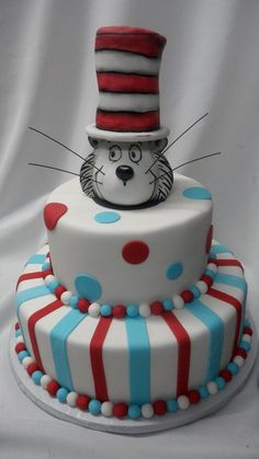 Cat in the Hat Cake, by Eric & Patty Woller.   I want this cake for my retirement party when I am finished teaching. : )