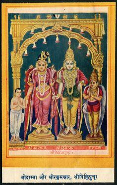 Lord Rangmannar & Godamba 9 x 14 Cm 1960s India Hindu Gods VINTAGE PRINT picclick.com
