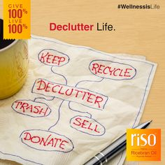 Let go of all negativity, baggage and toxic relationships. It's time to make way for new positive things in life! So start by decluttering your house and workstation by throwing away things that no longer serve you.   #Declutter #Minimalistic #Organize #OnlyGoodMemories #Positivity #Love #NoBaggage #Energize #FewGoodFriends #WellnessisLife #Riso #RicebranOil #Give100% #Live100%
