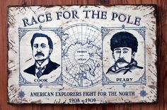 NEW  Vintage wooden sign 'Race for the Pole' by VASSdesign on Etsy