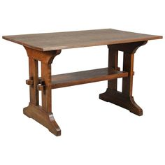 Shop tables and other modern, antique and vintage tables from the world's best furniture dealers. Arts And Crafts Furniture, Furniture Making, Furniture Decor, Furniture Design, Craftsman Decor, Craftsman Furniture, Trestle Table, Dining Table, Japanese Coffee Table
