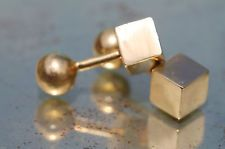 Vintage / Antique Tiffany & Co 18k 750 Yellow Gold Modernist Art Deco Cufflinks