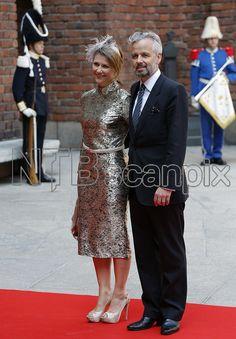 Prinsessen og Ari Behn representerer Norge og det norske kongehuset 30.4.2016 fordi kongeparet og kronprinsparet har valgt å bli i landet pga den store helikopterulykken utenfor Bergen dagen før.