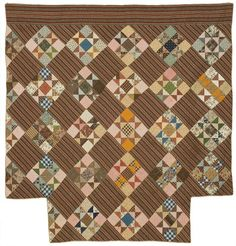 Love the surprising interplay of colors.  Ohio Star, 1865. New England Quilt Museum.