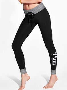 5b434d87f8 Campus Leggings - PINK - Victoria's Secret Pink, Fashion, Black Jeans, Moda,