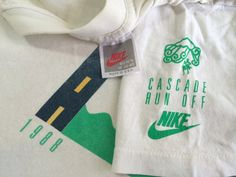 NIKE Tshirt 1988 Vintage Original/ CASCADE Run by sweetVTGtshirt