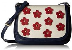 Tommy Hilfiger Bag For Women,Navy & White - Crossbody Bags