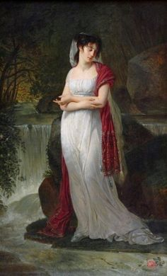 Gros, Antoine-Jean - - Portrait of Christina Boyer, Louvre First French Empire, Oil On Canvas, Canvas Prints, Louvre Paris, 1800s Fashion, Painting People, Empire Style, Beautiful Soul, School Fashion