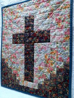 Cross Quilt by pearl25 on Etsy, $32.50