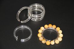50x Bracelet Bangle Chain Watch Display Holder Clear Plastic Ring Stand Bracelet