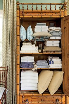 Keep Linen Storage Tidy | Declutter your home and give life to your inner neat freak with these 10 too-easy-to-not-do tips. If your life is hectic, join the club: Between kids, homework, housework, and ever-demanding jobs, nobody has time to organize on the go, and everyone knows how easy it is to let the mail pile up, the laundry get out of control, and the dishwasher remain perpetually full. The pie-in-the-sky dream of most homeowners is to focus on the eventual purge and redo of their
