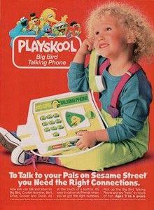 1988 Print Ad Playskool Big Bird Talking Phone Talk to Pals on Sesame Street 90s Childhood, Childhood Memories, 80s Kids, Kids Toys, I Have A Secret, Cookies For Kids, Vintage Advertisements, Vintage Ads, Big Bird