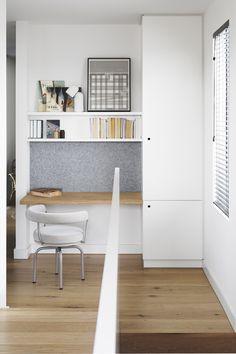 zabudowa wnęki - szafa + biurko + półki