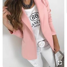 [New] The 10 Best Fashion Ideas Today (with Pictures) - Blazer neoprene maravilhoso Disponível no M e no G . Blazer Outfits For Women, Casual Work Outfits, Simple Outfits, Classy Outfits, Stylish Outfits, Beautiful Outfits, Work Fashion, Fashion Outfits, Fashion Ideas