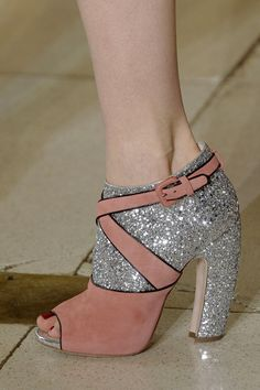 My dream shoe. Like, I love them so much I'd be the obnoxious girl wearing them to my 8am Spanish class. That's how much I love them.  Miu Miu, why do you make such cool shoes?!