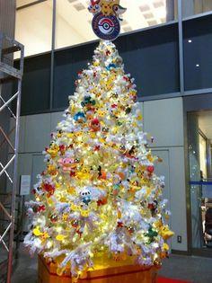 Pokemon Christmas tree. So Awesome.