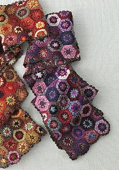 Mini granny squares scarf whut. I need to make one. (Just the picture, no directions at link.):