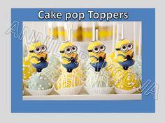 Printable Disney Minions Cupcake Topper Cake Pop Topper Picks Decor Dye | eBay