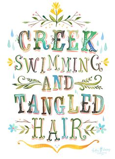 'Creek Swimming' : by Katie Daisy