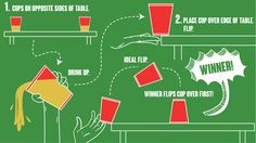 Flip Cup   8 Great Easy Drinking Games For Every Party