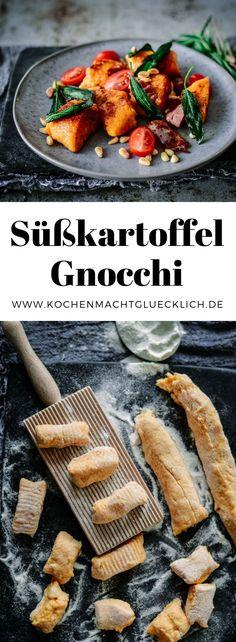 Gnocchi kennt und liebt jeder, aber habt ihr schon mal Süßkartoffel Gnocchi probiert, geschweige denn selbst gemacht? Geht ganz easy und ist superlecker. Kurz in der Pfanne geschenkt, mit frischen Kräutern, Tomaten und gerösteten Pinienkernen ein echter Geheimtipp!
