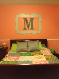 Find frame and customize your initial to go inside Gray Bedroom, Diy Bedroom Decor, Bedroom Ideas, Home Decor, My New Room, My Room, Decorating Ideas, Decor Ideas, Craft Ideas