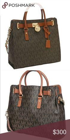 Authentic Michael Kors Hamilton Bag Used a handful of times, perfect condition! I only ship out on Wednesday's through Friday's! Michael Kors Bags Shoulder Bags