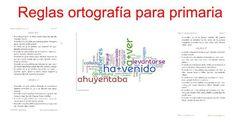 Cuadernillo de reglas de ortografía para Primaria