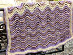 Favorite Feather and Fan pattern; blanket