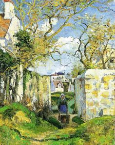 Camille Pissarro - Paysanne poussant une brouette- Maison Roudest- Pontoise 1874