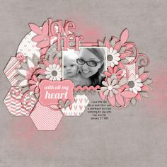 valentines {and love} scrapbook ideas | themed word art for a title