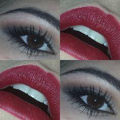 #sabatosera #look in #rosso Ho utilizzato il rossetto di #laetitiacasta della linea #purered di #loreal #lorealparis, cn luci fredde risulta un colore rosso scuro , ma con luci calde diventa un rossetto scuro tendente al marrone, come nella foto precedente .. Sugli occhi gli opachi della #tartelette di #tarte  #red  #lipsticks #lips #darklips #hudabeauty  #instamakeup #makeupartist #selenagomez  #makeupartistworldwide #mayamia #mayamiamakeup #eyeshadow #eyes  #vegas_nay #passion