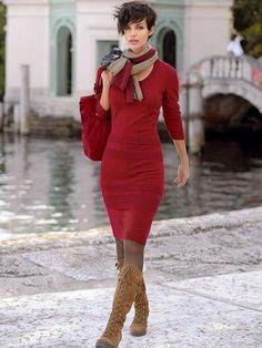 Вязаные платья 2015: фото модных моделей и с чем носить весной, зимой, осенью и летом