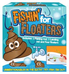 """Daron Worldwide Trading Floaters Fishing Game Includes 1 rod, 1 net, and 6 """"floaters"""" Floaters = poop/doody Hours of fun. White Elephant Game, Best White Elephant Gifts, Elephant Party, Prank Gifts, Funny Gifts, Beard Growth Kit, Architecture Design, Altered Cigar Boxes, Beard Grooming Kits"""